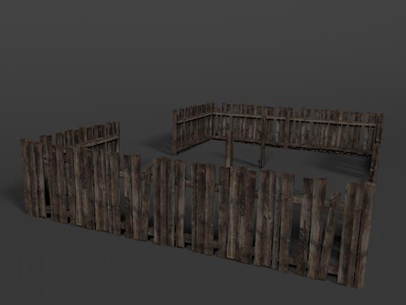3DOcean Wodden Fence 3569101
