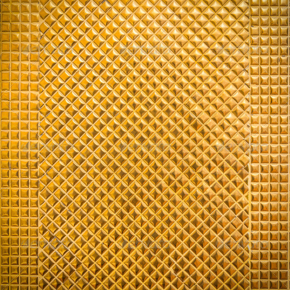 golden mosaic for background - Stock Photo - Images