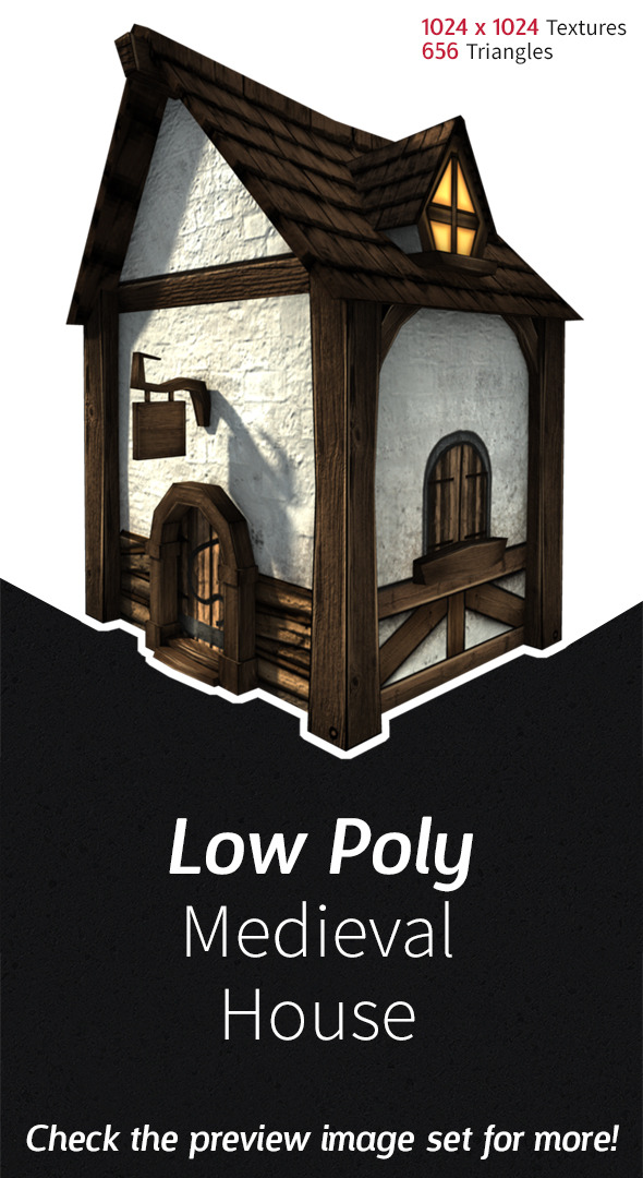 3DOcean Low Poly Medieval House 3569209