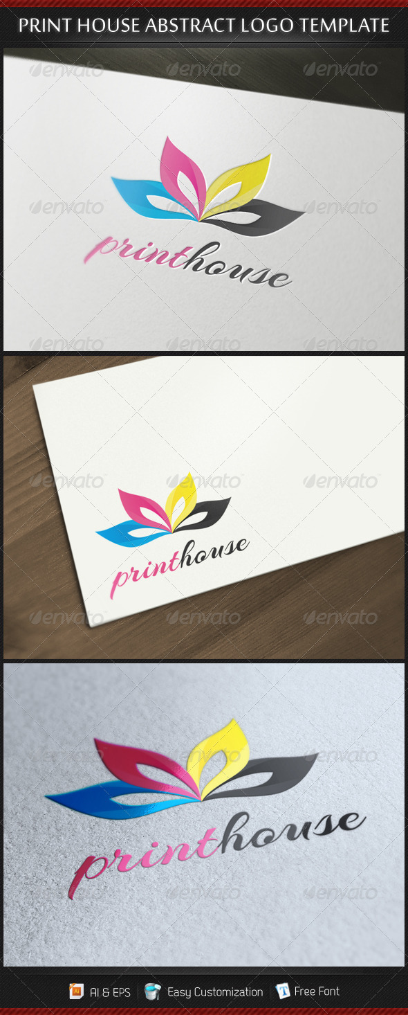 GraphicRiver Print House Abstract Logo Template 3569794