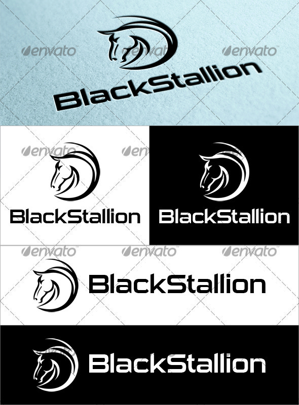 Black Stallion Logo - Animals Logo Templates
