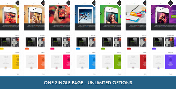 ThemeForest STM One Page Creative Theme 3262858