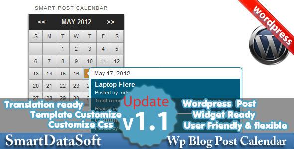 Smart - WordPress Blog Post Calendar