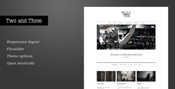 ThemeForest Two and Three Portfolio WordPress Theme 2868841