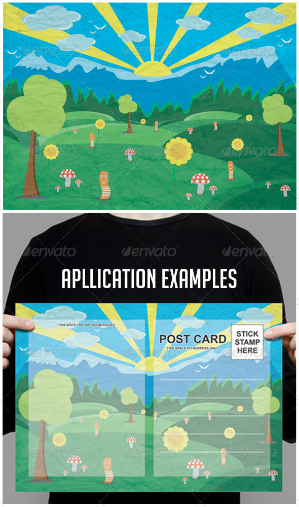 GraphicRiver Forest Landscape 3422052