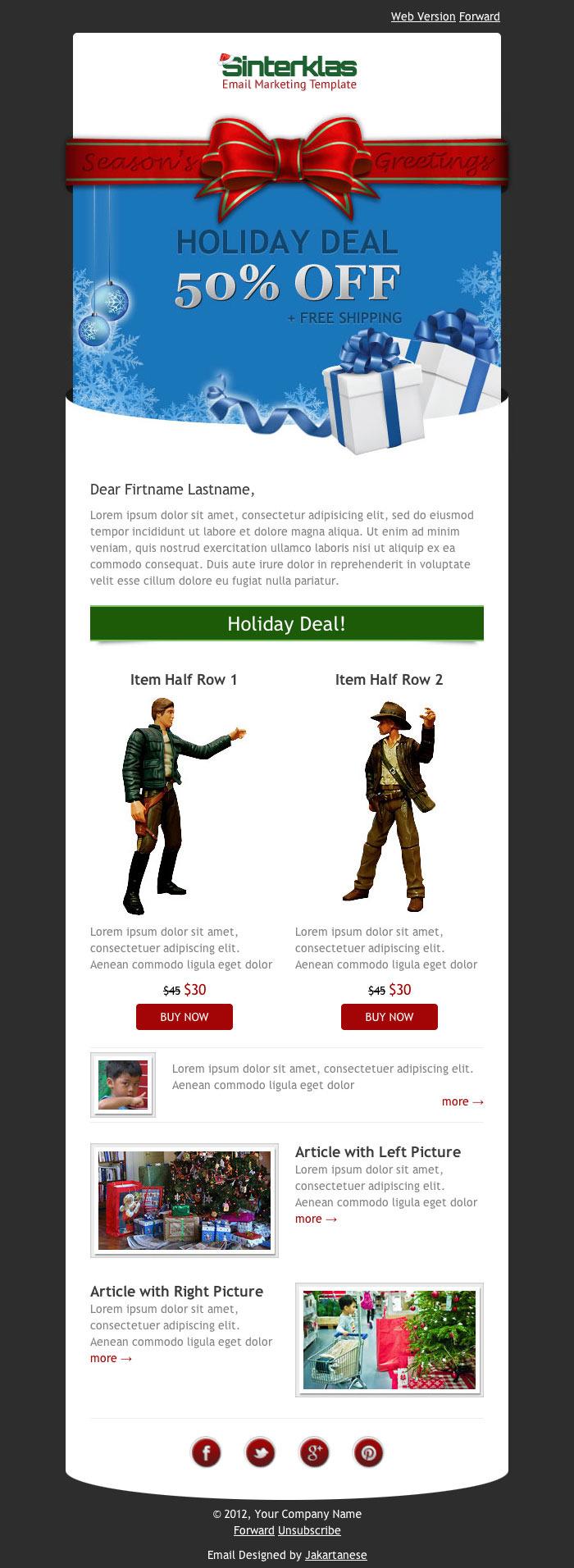 Sinterklas - Christmas Mobile Scalable HTML Email