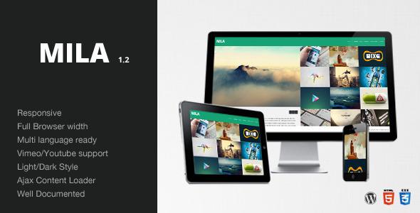 ThemeForest Mila Ajax Portfolio Theme Wordpress 3457241