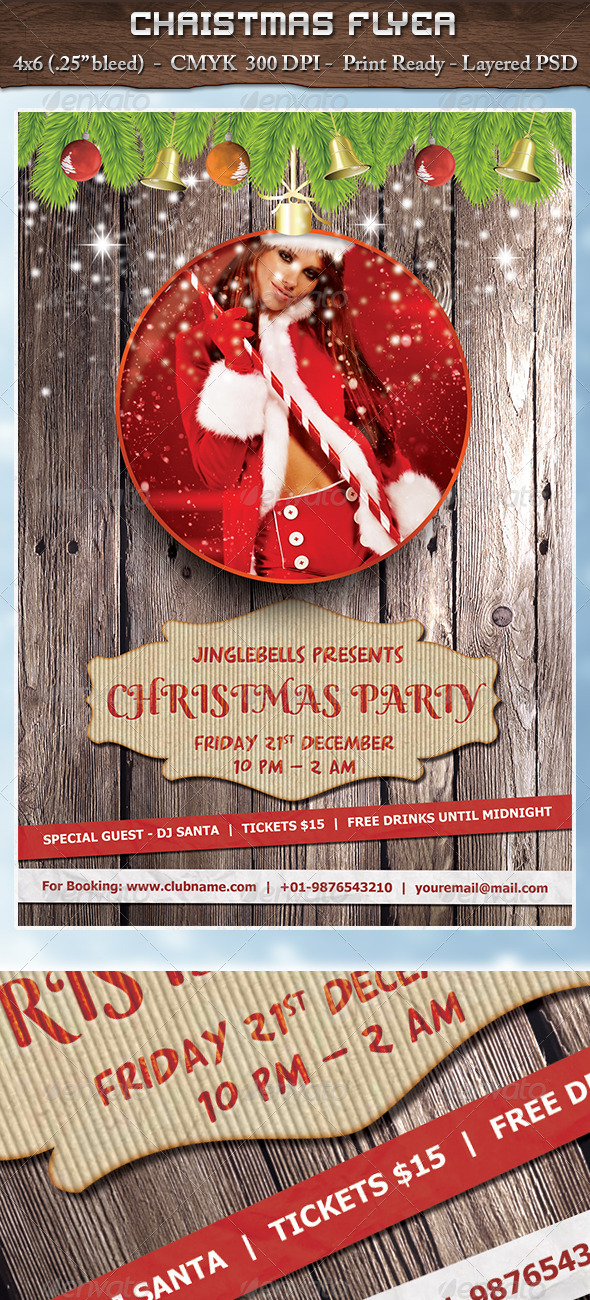 GraphicRiver Christmas Party Flyer 3570808
