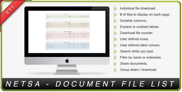 CodeCanyon Netsa Document File Lister 3271081
