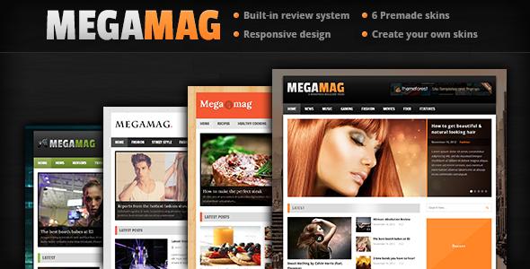 MEGAMAG - A Responsive Blog/Magazine Style Theme