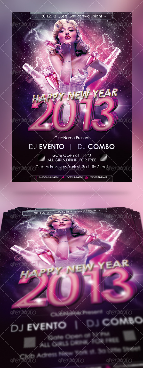 GraphicRiver NYE 2013 Flyer Poster 3510940