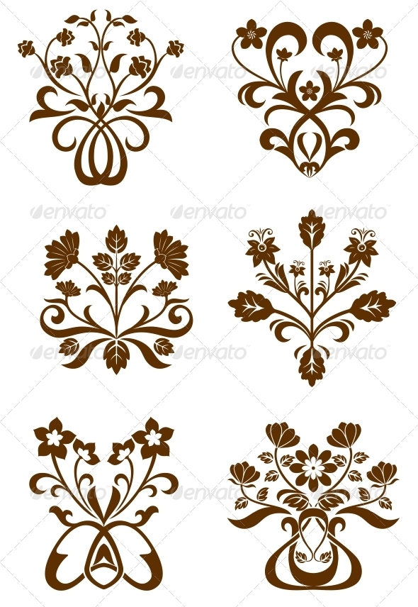 GraphicRiver Flower Patterns 3571663