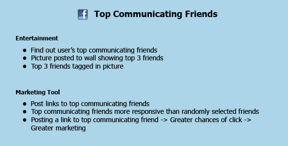 CodeCanyon Facebook Top Communicating Friends 3571729