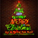 Christmas Neon Sign Against Red Wall - GraphicRiver Item for Sale