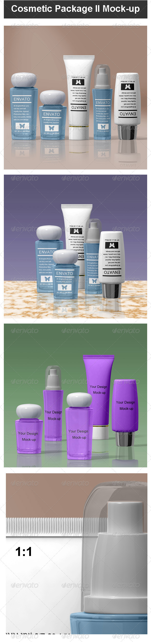 GraphicRiver Cosmetic Package II Mock-up 3571806