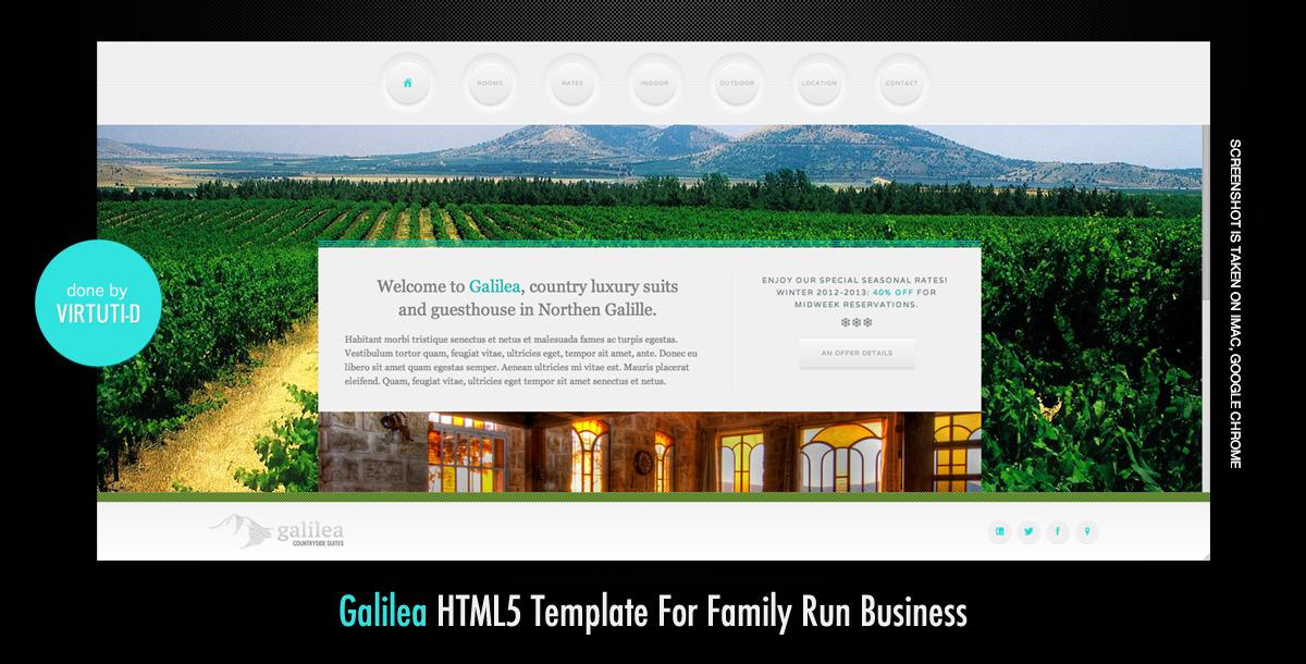 Galilea–Scrollable Imageless HTML5 Template