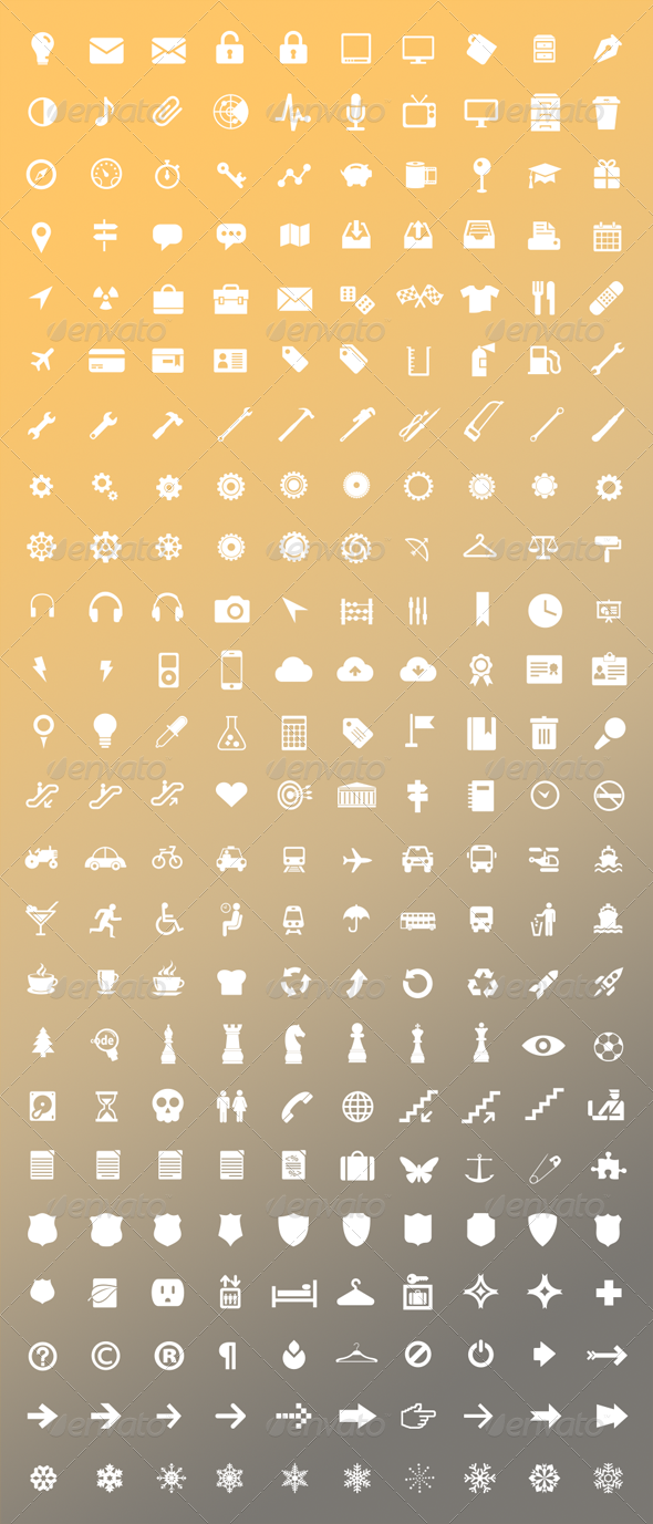 GraphicRiver 240 Vector Icons Pack 3528015