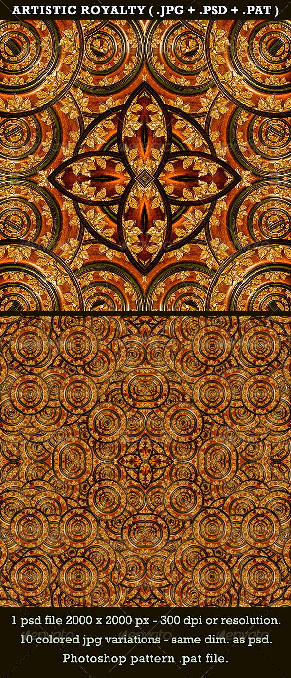 GraphicRiver Artistic Royalty Background&Pattern 3572528