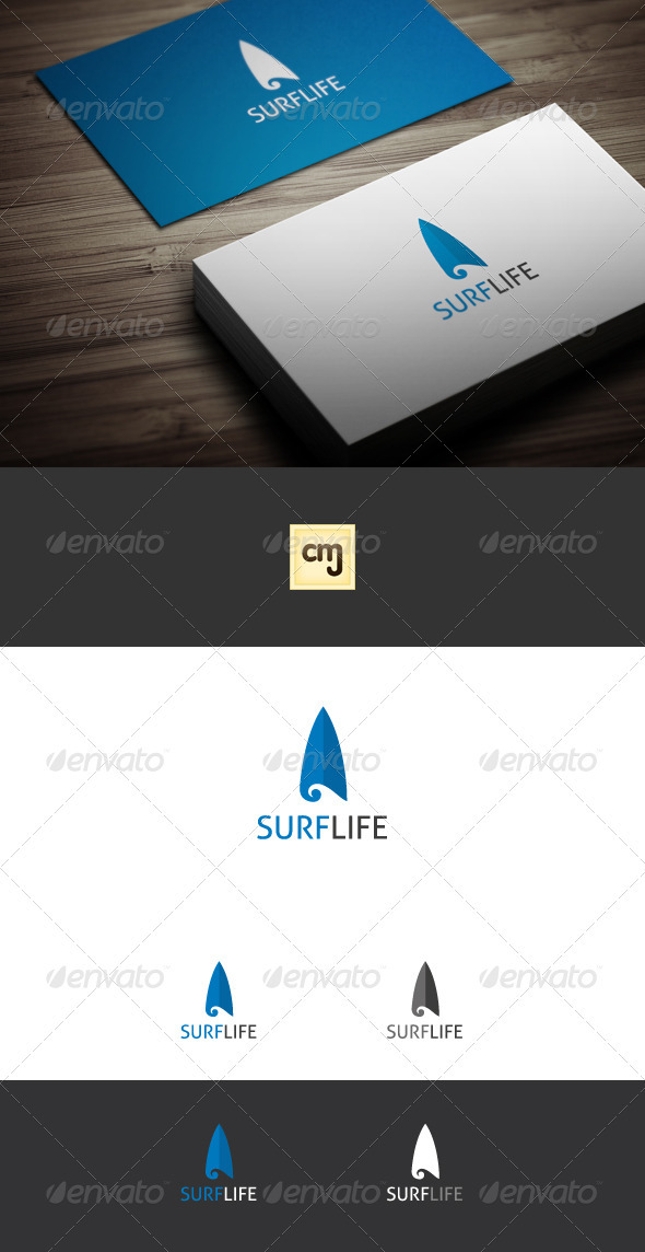 GraphicRiver Surf Life Logo Template 3572563