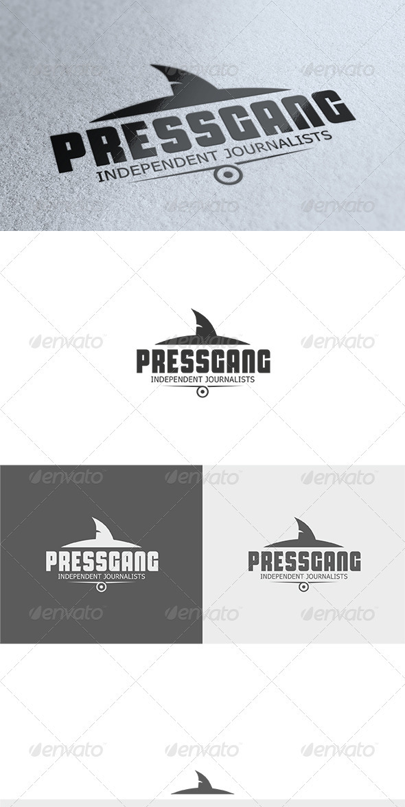 GraphicRiver Press Gang Logo 3572683