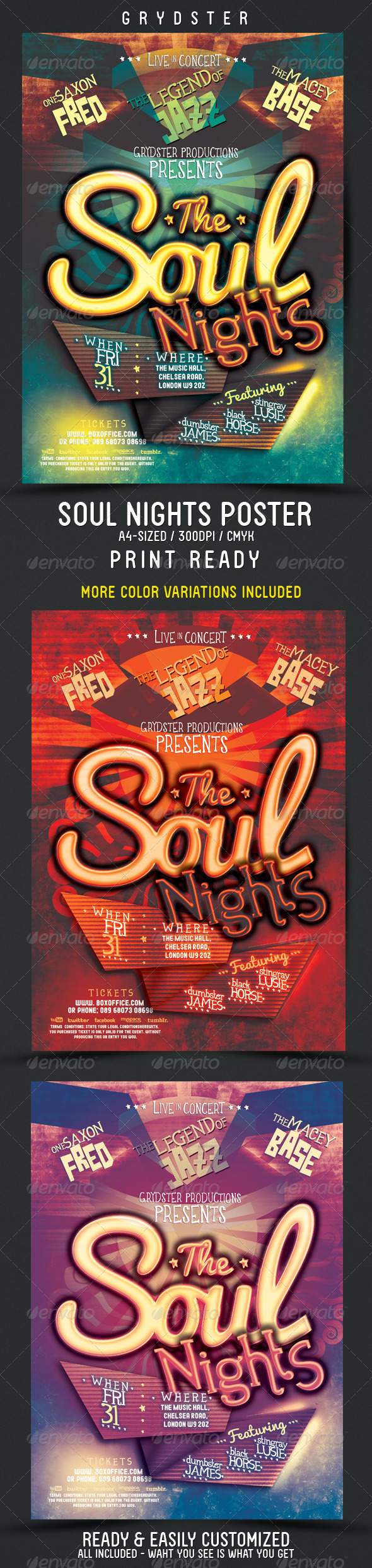Soul Nights Flyer - Poster - Clubs & Parties Events
