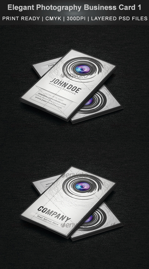 GraphicRiver Elegant Photography Business Card 1 3537751