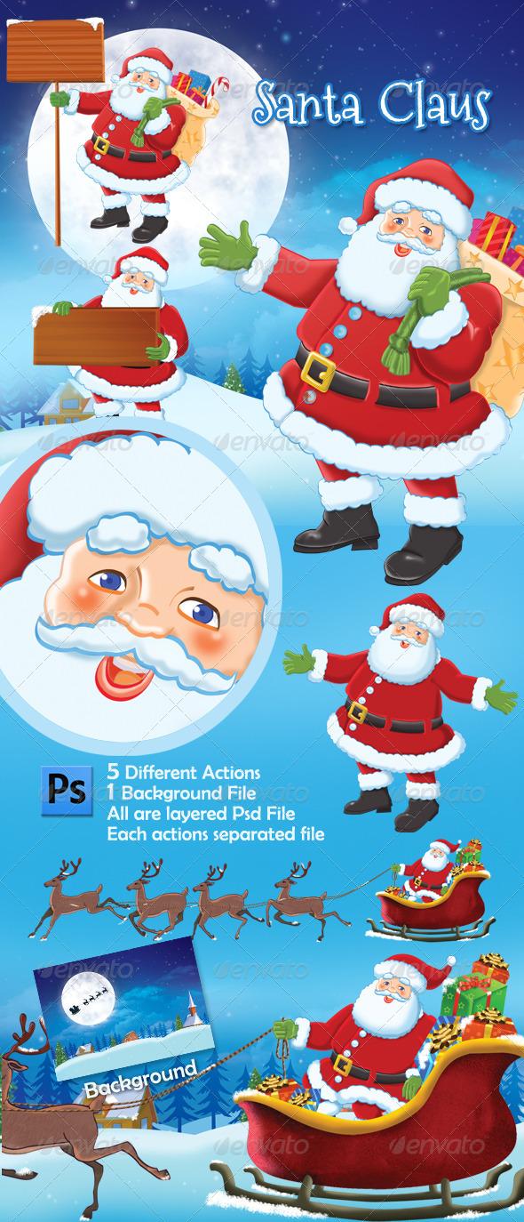 GraphicRiver Santa Claus 3538719