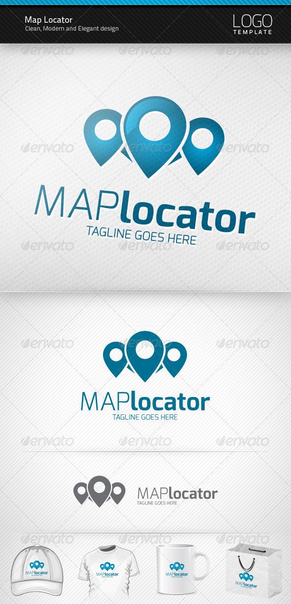 GraphicRiver Map Locator Logo 3572841