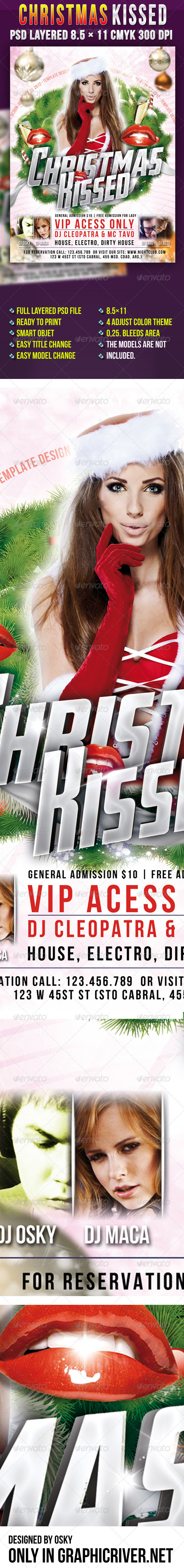 GraphicRiver Christmas Kissed Party 3537452