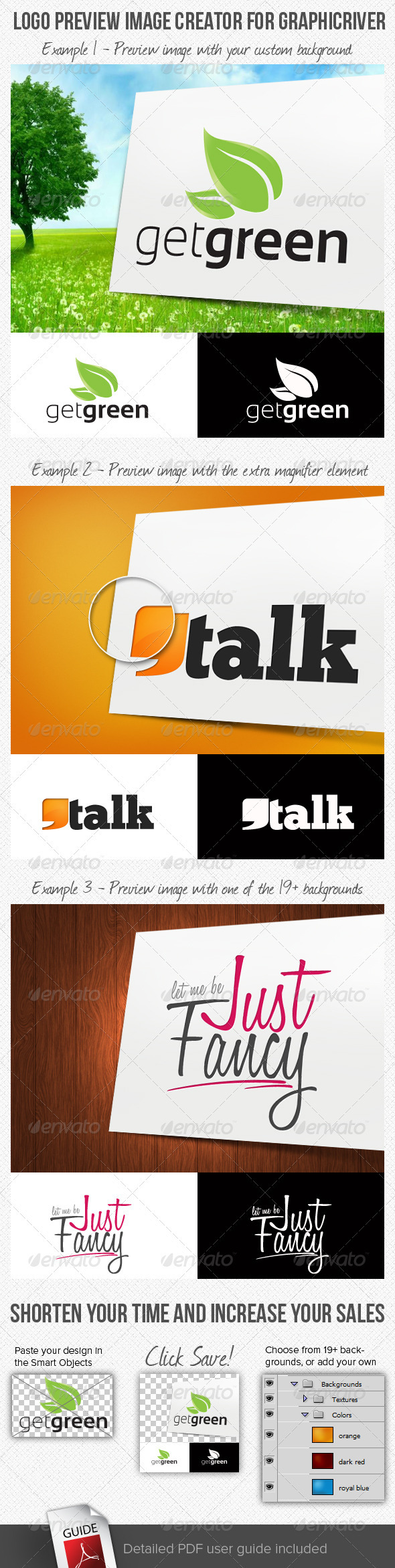 Logo Preview Image Creator for GraphicRiver - Logo Product Mock-Ups