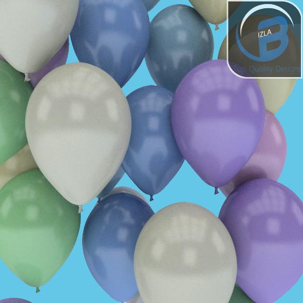 3DOcean Pastel Balloons 3572921