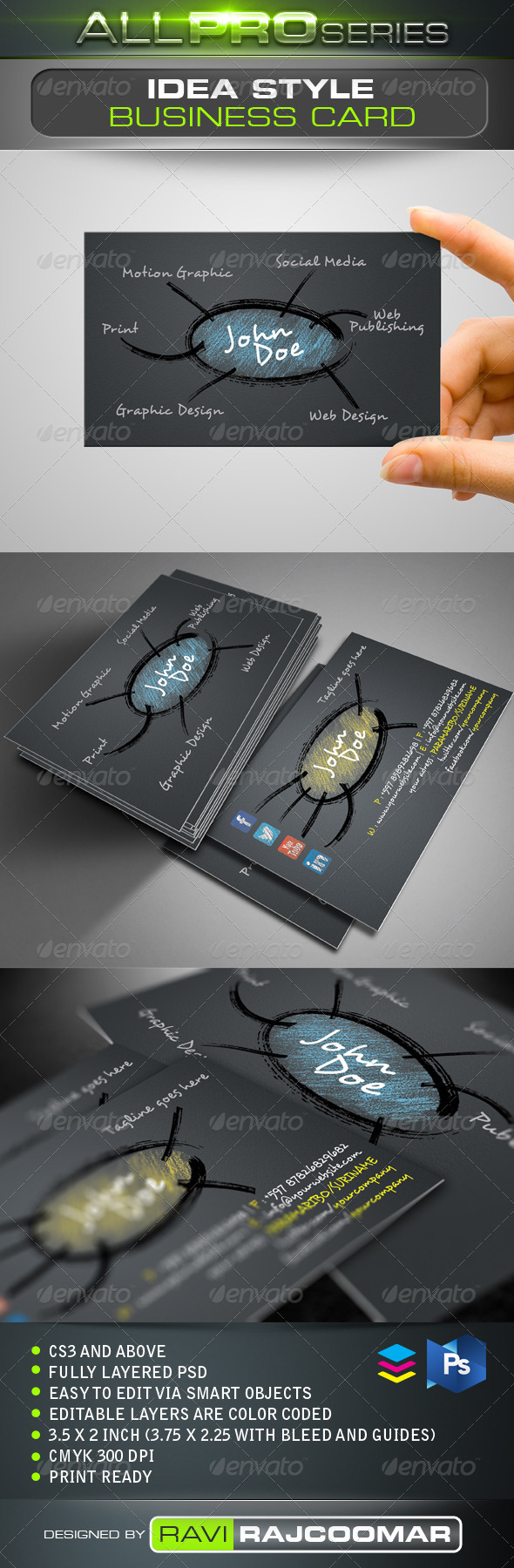 GraphicRiver Idea Style Business Card 3573070