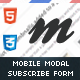 Modalicious | Mobile Modal Pop-Up Subscribtion