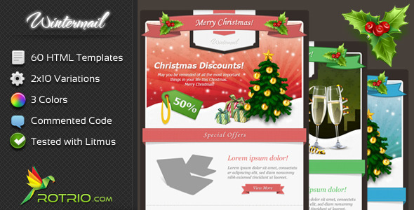 ThemeForest WinterMail Email Template 3573437