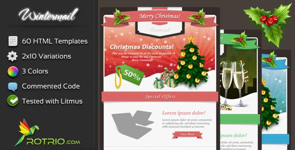 Plantilla de Mailing de Navidad Estilo Flat