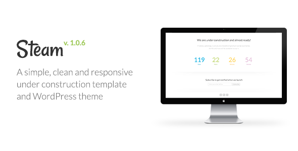ThemeForest Steam Responsive Coming Soon Page Template 2955706