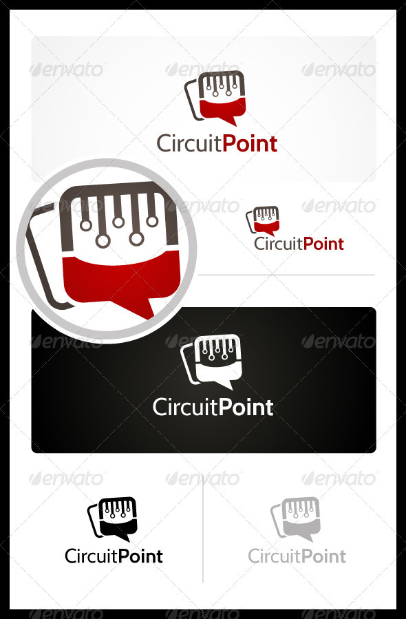Circuit Point - Symbols Logo Templates