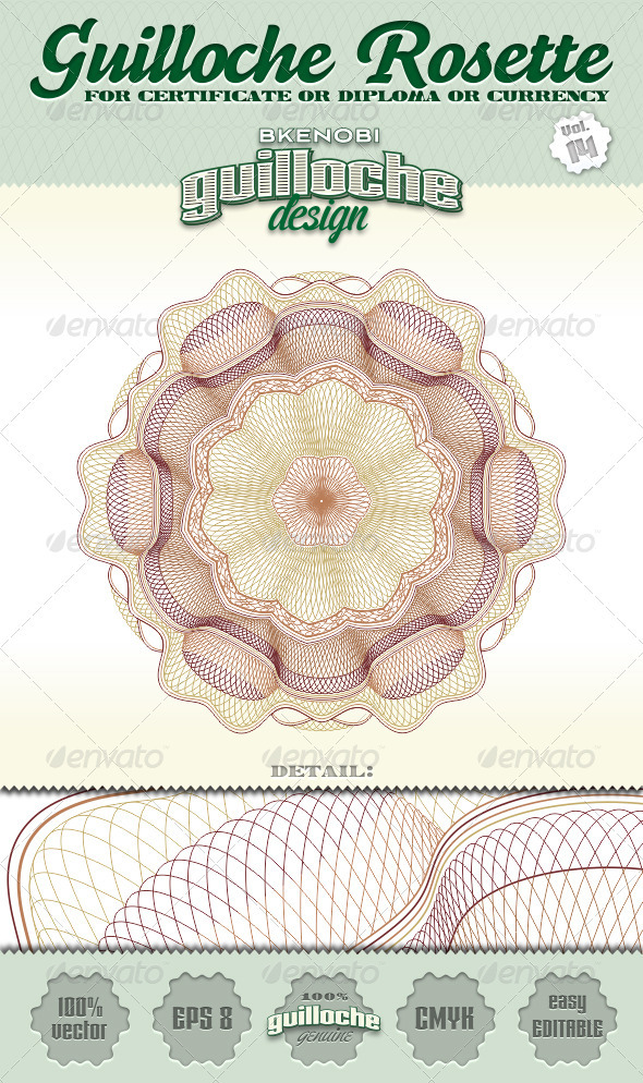 GraphicRiver Guilloche Rosette Vol.14 3573929