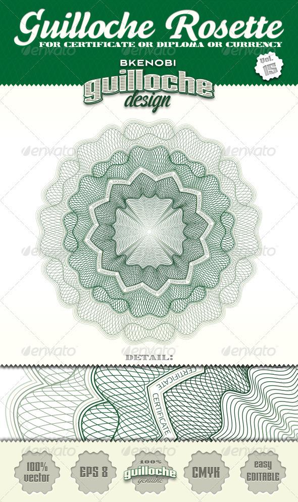 GraphicRiver Guilloche Rosette Vol.15 3573930