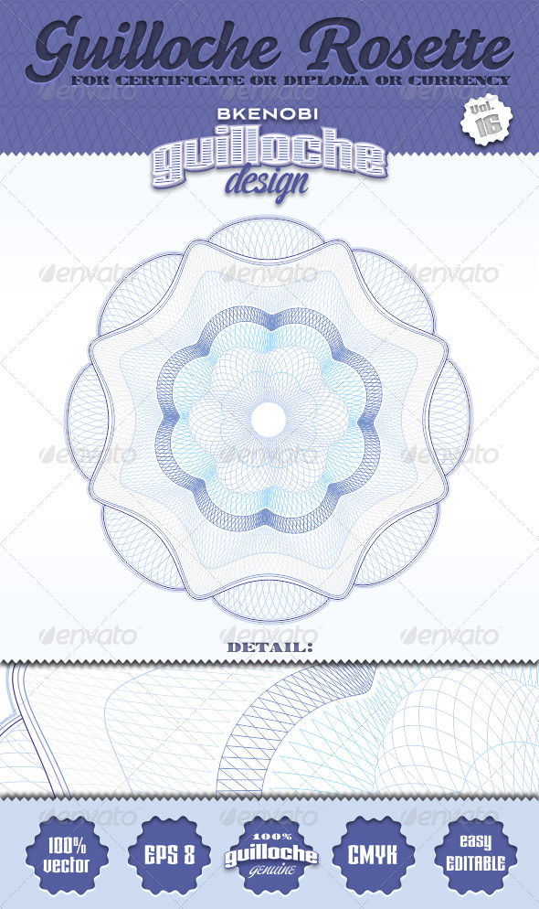 GraphicRiver Guilloche Rosette Vol.16 3573934