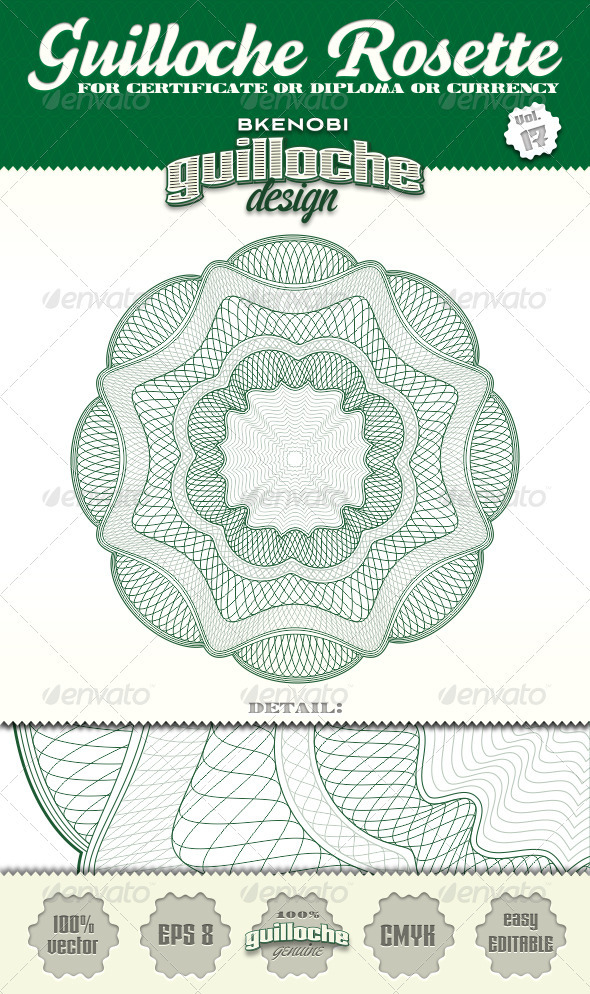 GraphicRiver Guilloche Rosette Vol.17 3573939