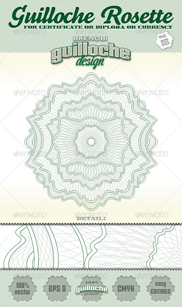 GraphicRiver Guilloche Rosette Vol.18 3573987