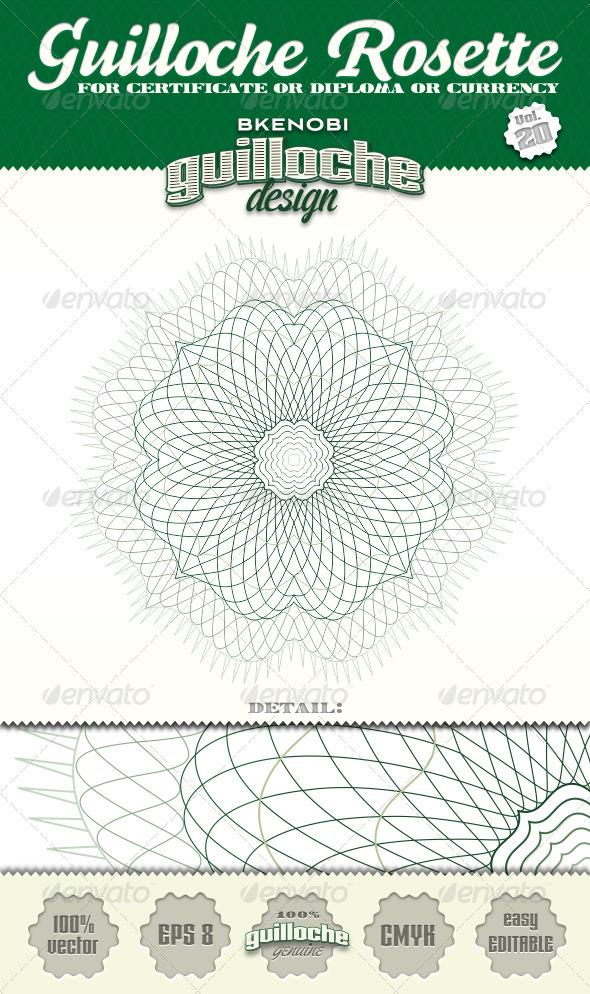 GraphicRiver Guilloche Rosette Vol.20 3574039