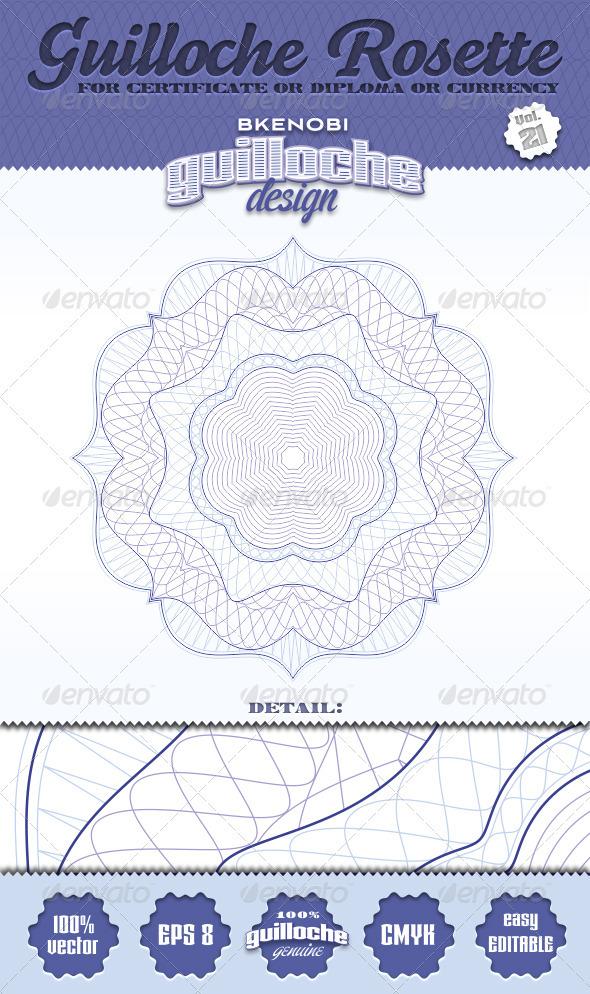 GraphicRiver Guilloche Rosette Vol.21 3574042