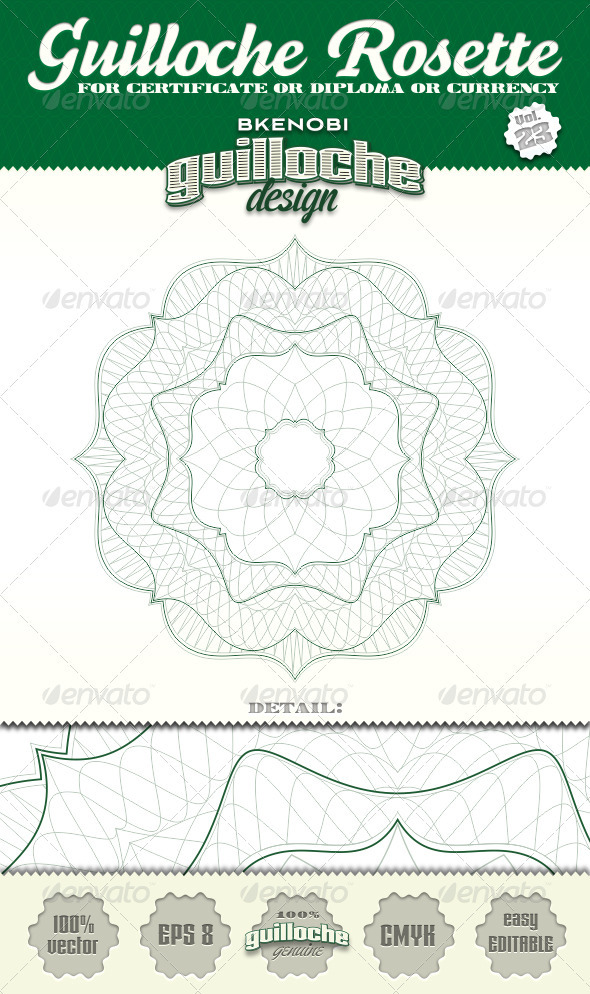 GraphicRiver Guilloche Rosette Vol.23 3574127