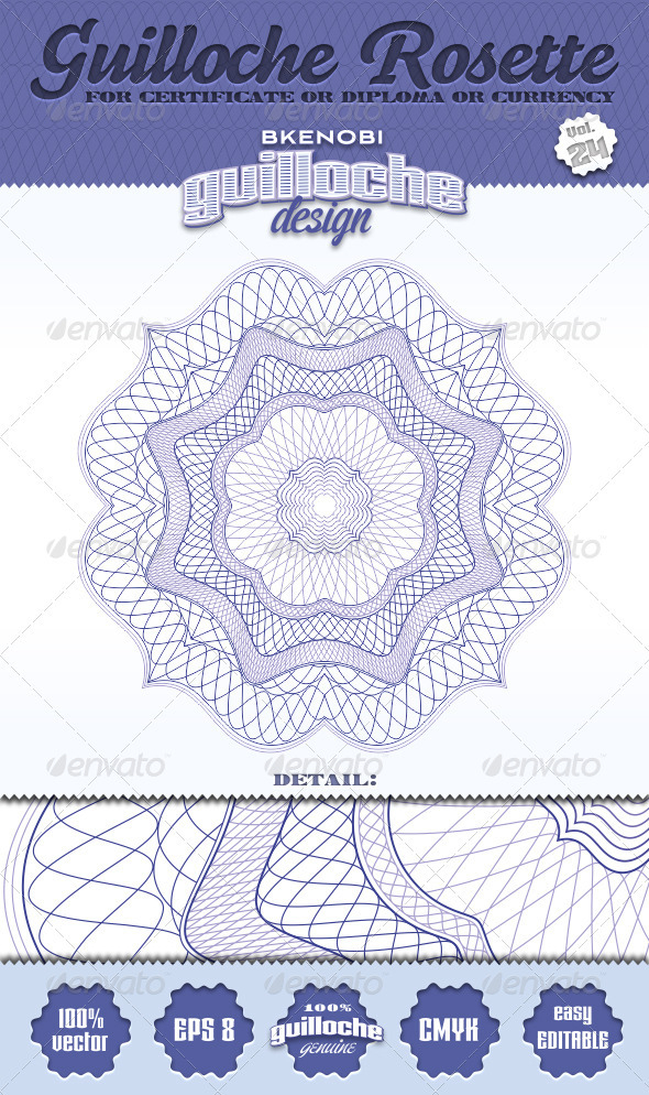 GraphicRiver Guilloche Rosette Vol.24 3574132