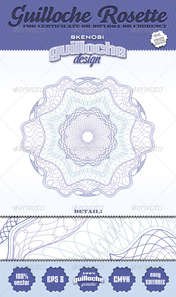 GraphicRiver Guilloche Rosette Vol.25 3574149