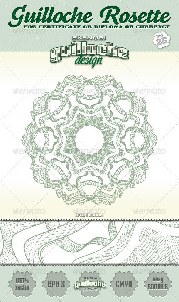 GraphicRiver Guilloche Rosette Vol.26 3574175
