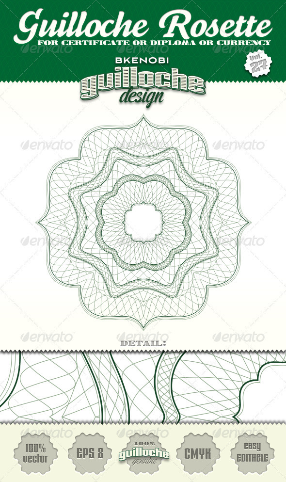 GraphicRiver Guilloche Rosette Vol.27 3574177