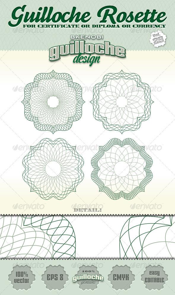 GraphicRiver Guilloche Rosette Vol.29 3574185